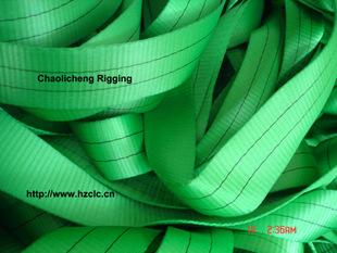 2T绿色扁平吊带/双层吊带/吊带吊眼加强/2000KG吊带/欧标2T吊带