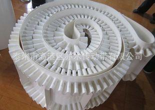 【企业集采】厂家销高强度PVC裙边挡板输送带白色食品级输送带