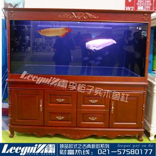 实木底柜 欧式水族箱 超白玻璃 生态龙鱼缸 水族世界 鱼缸批发