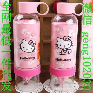 KT kt猫柠檬杯 hello Kitty柠檬杯 卡通柠檬杯二代 凯蒂猫水杯