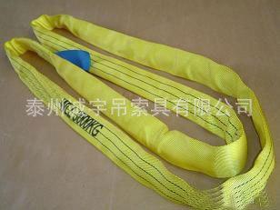 行业推荐安全系数4-6倍高强涤纶两头扣柔性吊装带-诚宇产品