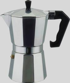 厂家直销意式摩卡铝制咖啡壶 铝咖啡壶 摩卡咖啡壶 十角咖啡壶