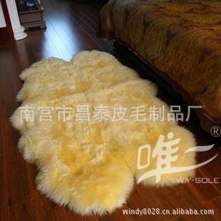长期销售  羊皮毯 皮毛一体 各类皮革地毯挂毯 欢迎咨询