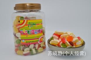 节日礼品保障1*24原味一等级爱来客进口进口食品365软Q糖休闲