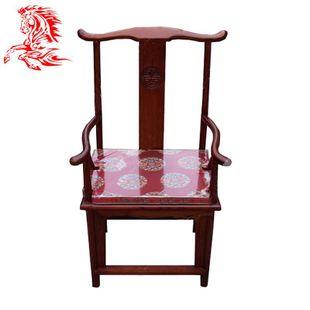 明清仿古家具实木榆木餐椅官帽椅圈椅坐垫