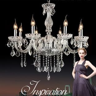 【灯隆】灯饰批发现代透明欧式水晶餐厅吊灯ym08 卧室水晶灯