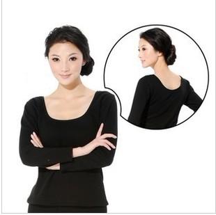 保暖内衣 大圆领超低领加厚保暖保暖上衣 加绒美体保暖上衣批发