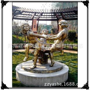 玻璃钢欧式人物景观装饰雕塑