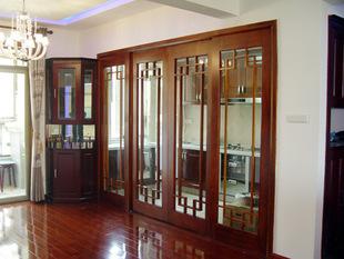 北京厂家直销 格格木 断桥铝门 德式铝包木门窗 欧式纯实木折叠门