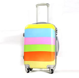 飞机旅行箱印花拉杆箱20寸24寸男女pc万向轮行李箱子