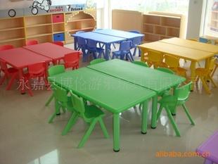 幼儿塑料升降长方桌、幼儿园塑料桌椅、幼儿园桌椅、儿童塑料桌椅