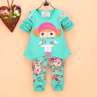 儿童套装秋款清仓热卖低价纯棉宝宝套装帽兜衫拉链外套0-1-2-3