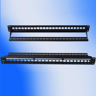 供应 原装普地PUDI托盘式24口配线架 19英寸可装网络信息语音