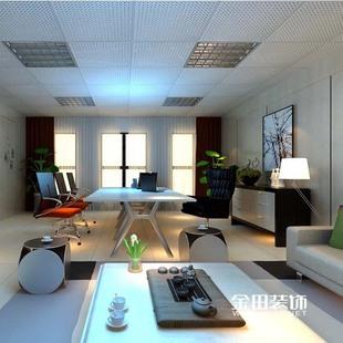 写字楼集团办公室装修设计效果图 安徽公装室内装潢设计