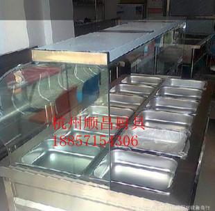 专业生产快餐店设备,中式快餐设备,12格售菜保温台,自助餐台