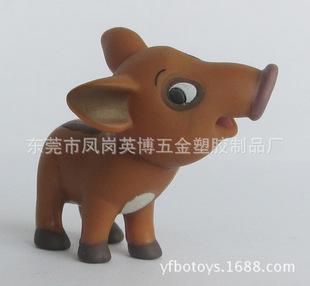 供应订制塑胶动物公仔 仿真动物模型 搪胶动物饰品