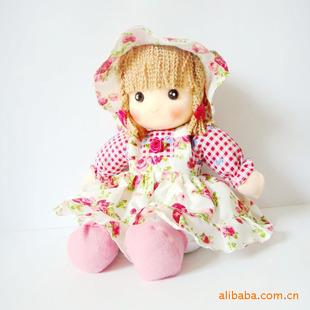 【大额批发】批发供应可爱小挂布坐娃 洋娃娃 布娃娃 坐姿