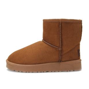 清仓热卖秋冬低帮雪地靴 保暖女靴 麂皮绒靴子加厚毛绒女鞋