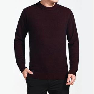 休闲保暖貂绒衫  商务貂绒衫    平板纯色针织貂绒衫