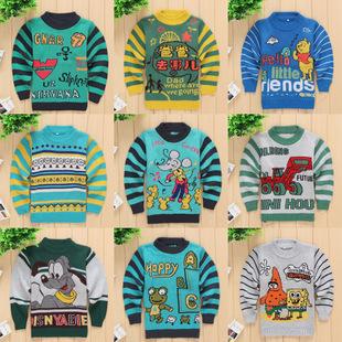 外贸童装 秋冬儿童毛衣新款 小童毛衣 韩版加厚款特价童毛衣批发