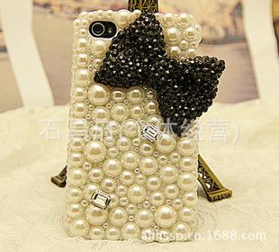 爆款蝴蝶结 手机保护套 手机壳珍珠蝴蝶结 手机饰品成品手机套