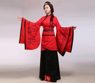 古装唐装汉服女装 特价新品汉代服装 民族曲裾深衣舞台演出服汉服