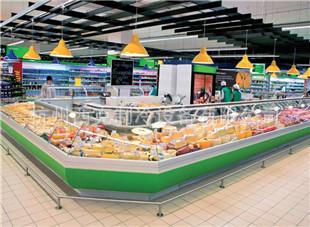 超市熟食柜  熟食柜厂家  翻盖熟食柜  熟食展示柜
