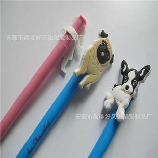PVC软胶圆珠笔套 铅笔套 3D公仔笔套 儿童笔套 微量射出笔套