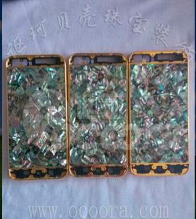 厂家直销超薄苹果5鲍鱼贝贝壳手机外壳保护套 贝壳手机壳