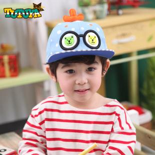 tutuya 春款儿童鸭舌帽宝宝帽大眼睛小天使时尚可爱帽 男女童帽潮