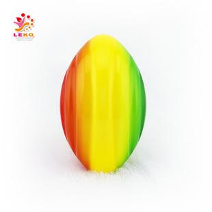 全彩印pu发泡 彩虹橄榄球 儿童pu橄榄球 儿童运动休闲橄榄球玩具