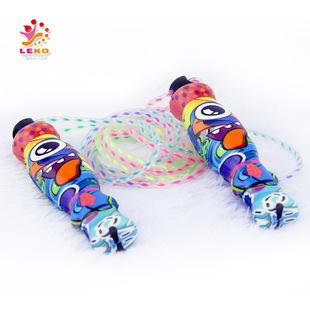 全彩印pu发泡跳绳软把手儿童跳绳 出口欧美 儿童卡通跳绳