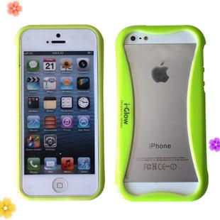 小蛮腰 iphone5边框 夜光手机壳 双色pc+tpu手机壳 小清新糖果色