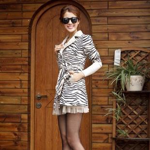 新款女装欧美豹纹女式风衣 杂款地摊货源 混批清仓女装打包尾款