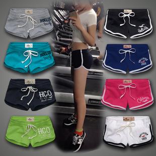 清仓品牌AF女式短裤 夏季纯棉女士休闲运动瑜伽裤 女装库存处理
