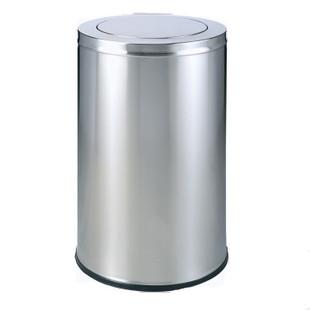 锈钢港式翻盖垃圾桶