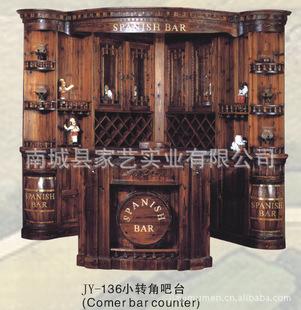 厂家批发豪华木质酒柜 ktv红酒展示柜 炭化木欧式转角吧台