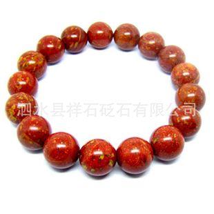 天然山东泗水富贵红砭石手链