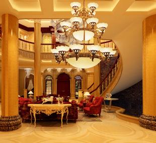 包邮欧美式客厅大吊灯三层别墅复式楼中楼铁艺复创意图片