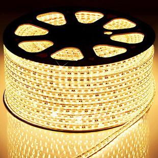 厂家直供LED灯带5050贴片吊顶防水高压软LED灯带灯条升级款