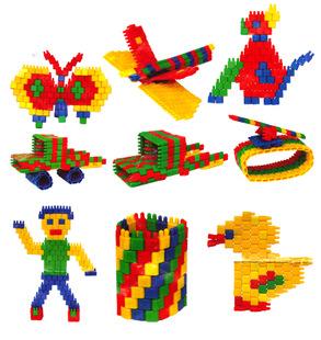 耀辉子弹积木反弹桌面黑脸头幼儿园积木早教益智积木玩具娃娃祛斑拼插吗图片