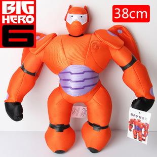 一件代发 超能陆战队毛绒公仔 大白红胖子盔甲毛绒 38cm 毛绒玩具