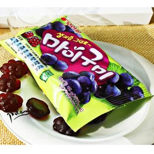 现货供应儿童小食品批发好丽友46g葡萄味QQ软糖进口韩国休闲零食