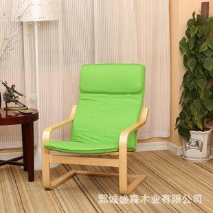 厂家直销欧式简约宜家阳台休闲椅实木弯曲木扶手椅