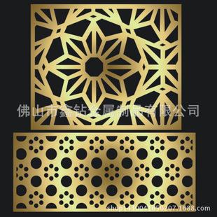 佛山定制激光加工 简约现代装饰花格不锈钢屏风 多种花型可选