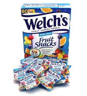 美国进口Welch's果汁软糖混合水果味纯果汁QQ软糖2kg 80小袋