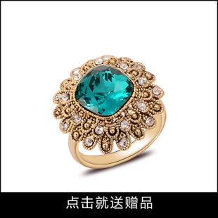 代理加盟经典复古宝石戒指 宫廷复古宝石戒指 合金复古宝石戒指