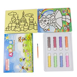 树蛙儿童砂画8瓶沙8张画小号沙画套装礼盒儿童diy绘画益智玩具