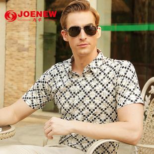 夏季清仓男式衬衫2015修身男衬衫 男士短袖衬衫 韩版男式免烫衬衫