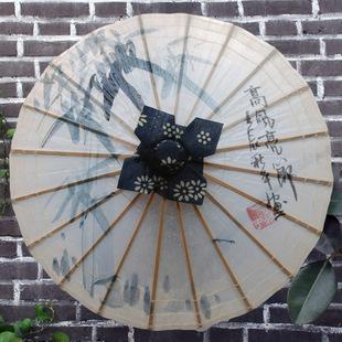 古风手绘伞面图片